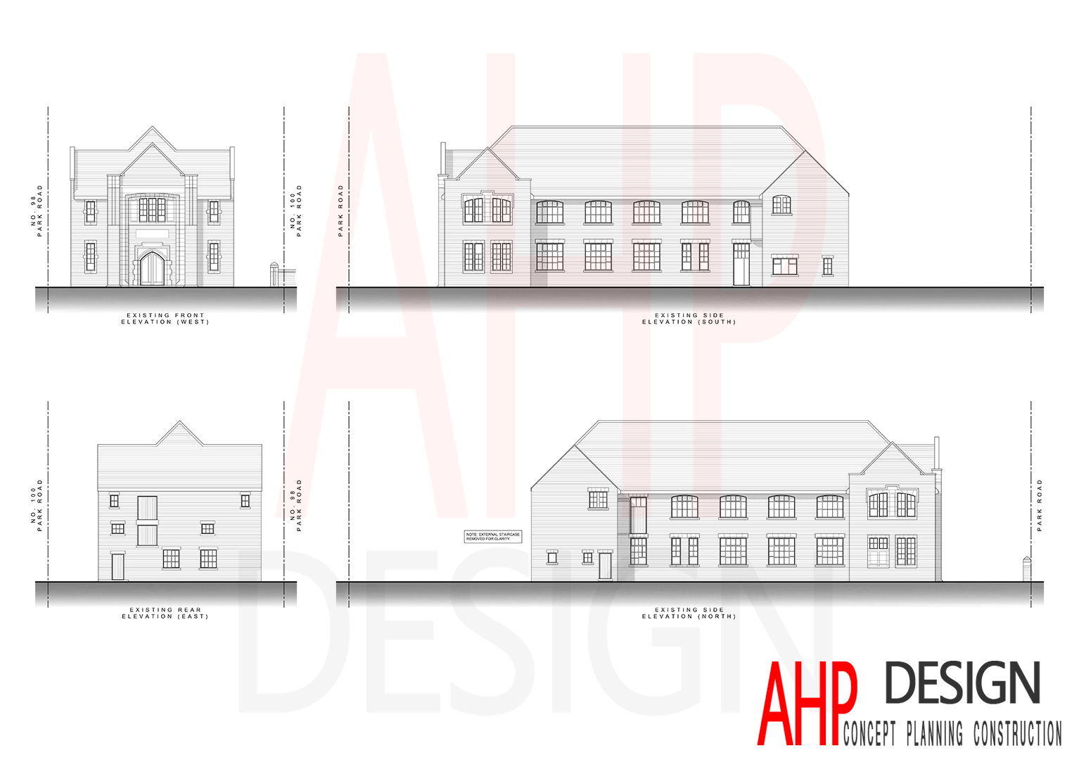 Existing Elevations - Park Road, Blackpool