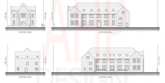 Proposed Elevations - Park Road, Blackpool