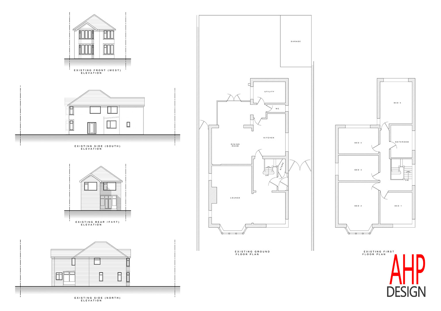Detached house blackpool existing plans